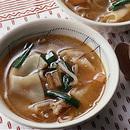 豚肉とワンタンの野菜スープ