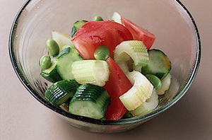 夏野菜のあえもの
