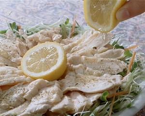 鶏肉の塩蒸し