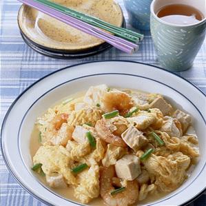 豆腐と卵の炒めもの