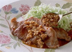 韓国風豚肉の網焼き