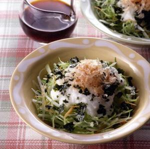 せん切り野菜のとろろサラダ