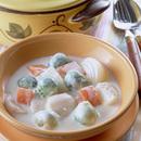 冬野菜と帆立てのクリーム煮