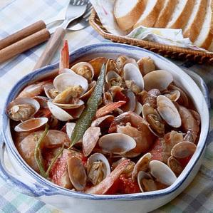 きんめ鯛とえびのトマト煮