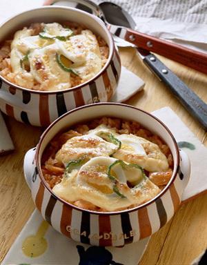ゆで卵、ピーマンのせマヨネーズドリア