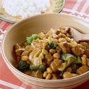 豚肉と大豆のカレー煮込み