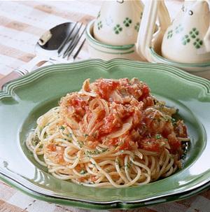 スパゲティツナトマトソース