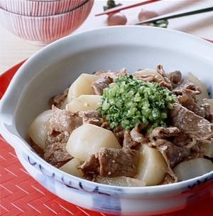 牛薄切り肉とかぶのみそ煮