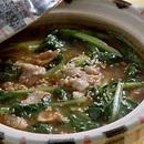 小松菜と豚肉のみそ煮