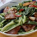 小松菜とレバーの中華炒め