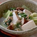 青梗菜と豚ひき肉・焼き豆腐のスープ煮