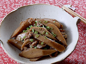 ごぼうと牛肉の炒め煮
