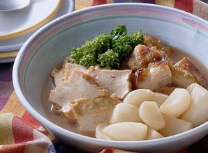 厚揚げと鶏もも肉の煮合わせ