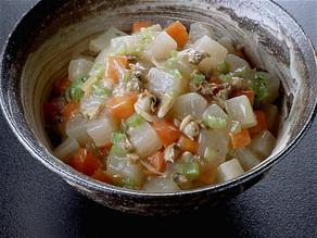 大根とにんじんのスープ煮