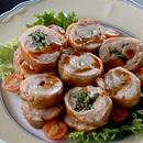 鶏肉の野菜巻き焼き