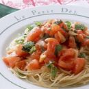 青じそ風味の真っ赤なスパゲティ