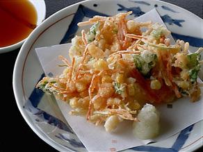 小柱と野菜のかき揚げ