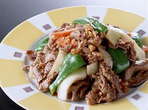 牛肉と野菜の干しえび炒め