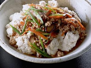 くずし豆腐のひき肉あんかけ