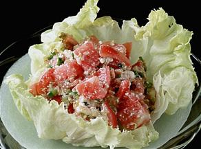 トマトの白あえ風サラダ
