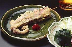 たこのしそ風味天ぷら