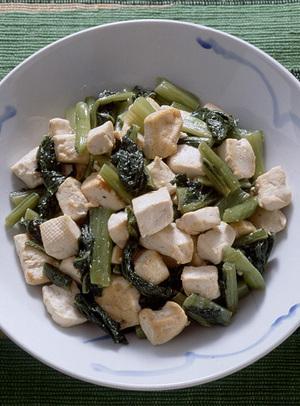 野沢菜のチャンプルー
