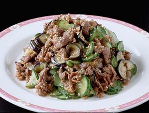牛肉と塩もみ野菜の炒めもの