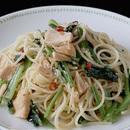 ツナと小松菜のスパゲティ