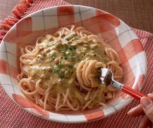ふんわり納豆のたらこスパゲティ