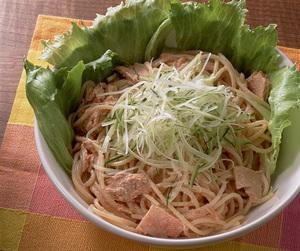 明太子とツナのサラダスパゲティ