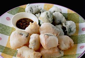 鮭の中国風天ぷら