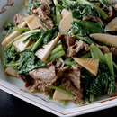 牛肉と小松菜の炒めもの