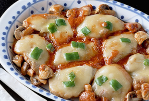 豚肉のピザ風ソテー