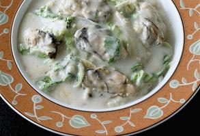 かきと白菜の中国風クリーム