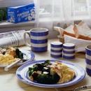 ブロッコリーと卵のホットドレッシング