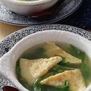レタスと卵焼きのスープ