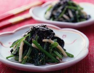 小松菜の韓国風あえもの