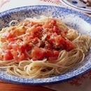 トマトとバジルのスパゲティ