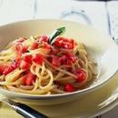 バジルとトマトの冷製パスタ
