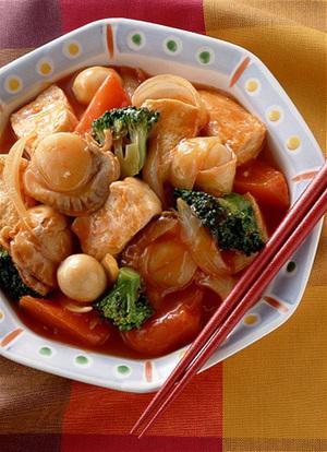豆腐の甘酢炒め