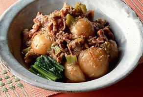 豚肉とかぶの韓国風煮もの