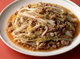 豚ひき肉と白菜のピリ辛炒め