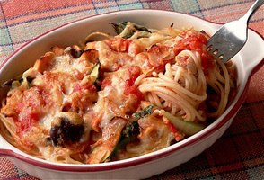 トマトスパゲティのグラタン