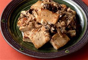 豆腐と豚肉のこんがりソテー