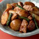 豚肉と新じゃがの揚げ煮