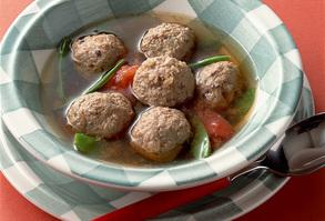ミートボールと野菜スープ