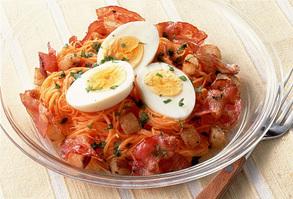 カリカリベーコンとゆで卵のサラダ