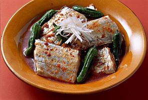 たち魚としし唐辛子の韓国風煮