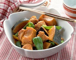 かぼちゃと鶏肉のほっくり煮