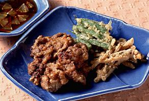 牛肉と野菜のつまみ揚げ